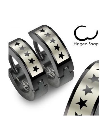 Hoop earrings with five stars