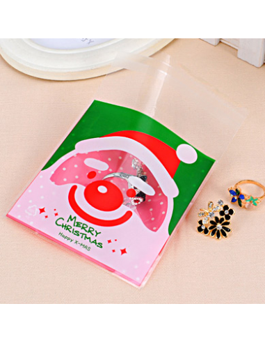 Gift bag plastic Santa Claus Merry...