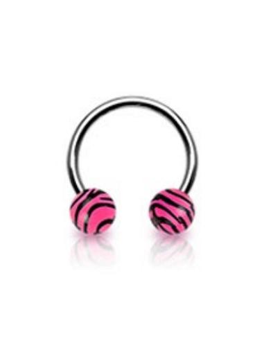 Circular Barbell with UV Tiger Print...
