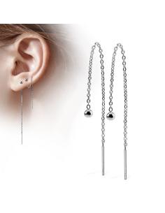 Ear Stud chained threaders...