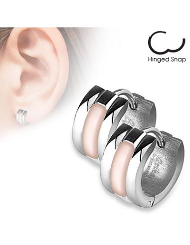 Hoop earrings Center Shell Inlay