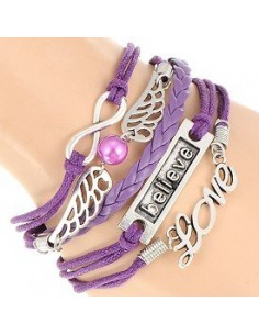 Bracelet with Infinity, Owl, Wings