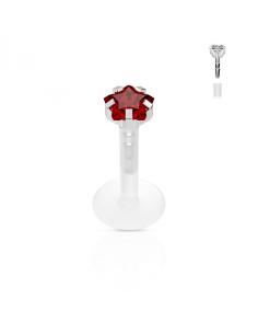 Bioflex Labret with Star Red