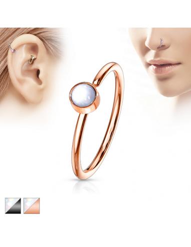 Piercing ring Illuminating Stone