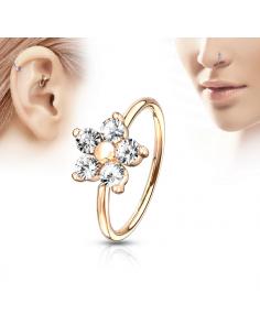 Piercing ring CZ Flower Top