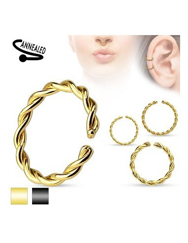 Cut Ring Rounded Ends Braided