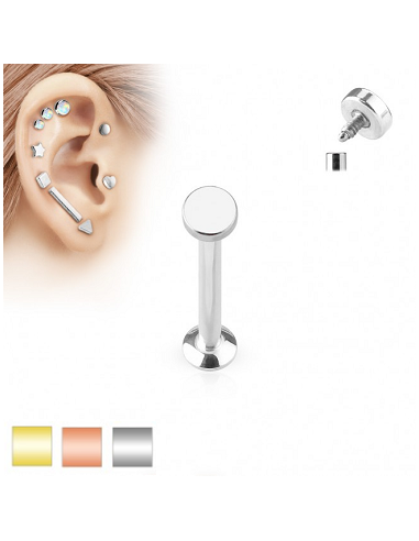 Labret Internally Threaded with Round...