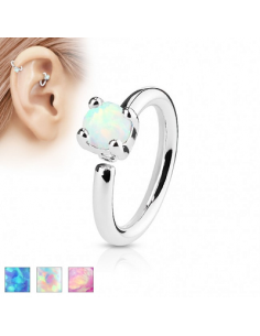Piercing Ring Prong Set Opal
