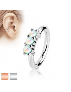 Piercing Ring Prong Set Opal