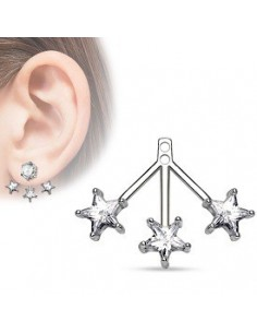 Add On Earring 6 Round CZ Cluster