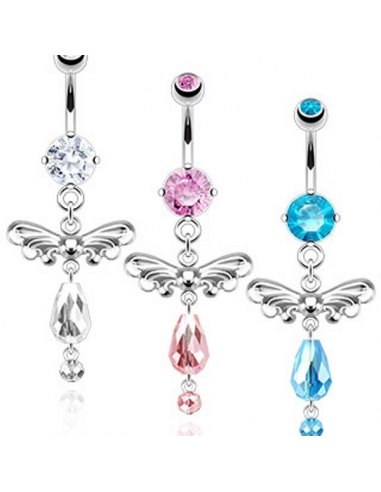 Belly Button Navel Ring Angel Wings...
