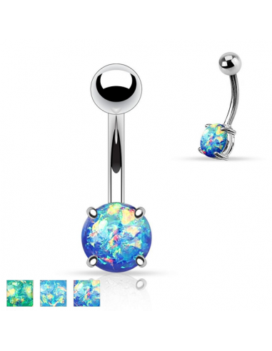 Belly Button Navel Ring Opal Glitter Sparkle And Shine With The Hel