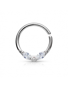 Piercing Ring Set Marquise...