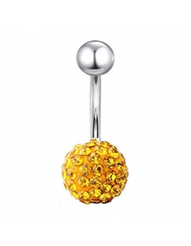 Belly Button Navel Ring with yellow...