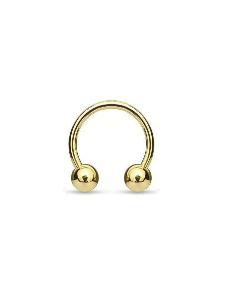 Circular Barbell 8mm Gold Plated Balls