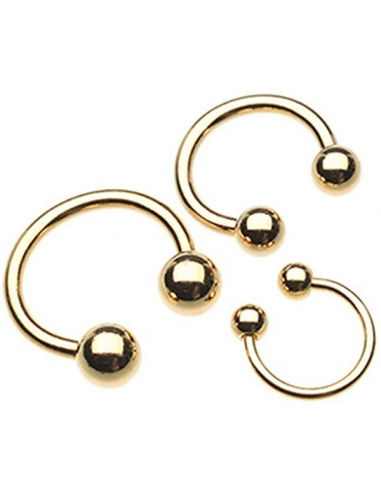 Circular Barbell Gold Plated Balls