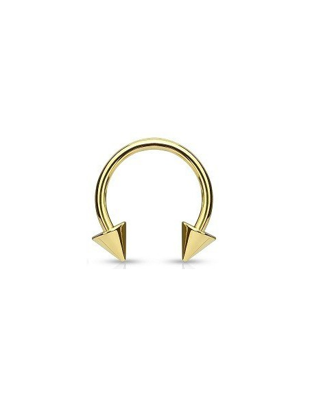Circular Barbell Gold Plated Spikes