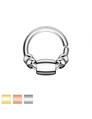 Piercing anneau pliable perles polies