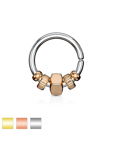 Piercing Ring with removable Square...