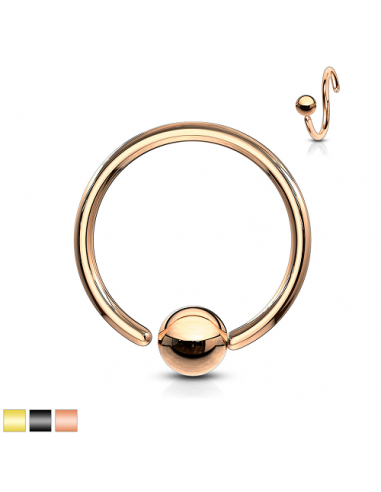 Ball Closure Ring titanium plated one...