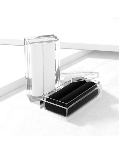 Clear Acrylic Gem Box with Black or...