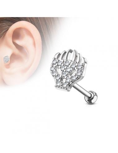 Piercing oreille cartilage hélix Tête...