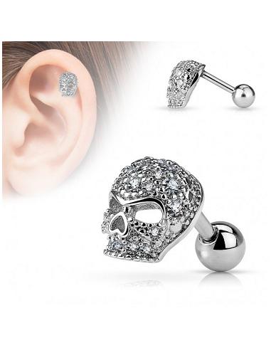 Earring Barbell Helix Stud Micro CZ...