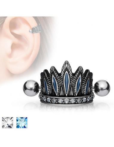 Earring Barbell Helix Tribal Crown