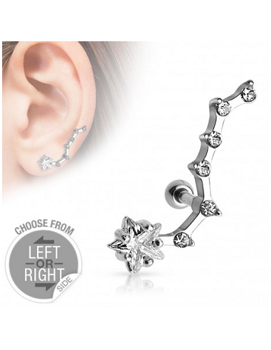 Cartilage Helix Barbell Star with...