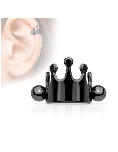 Earring Barbell Helix Cuff Crown