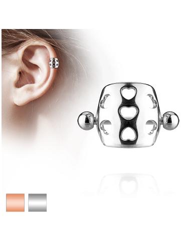 Helix Shield Earring Barbell Hollow...