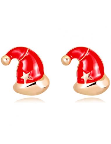 Ear Studs Earring christmas Santa hat