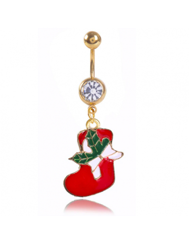 Belly Button Navel Ring Gold Plated...