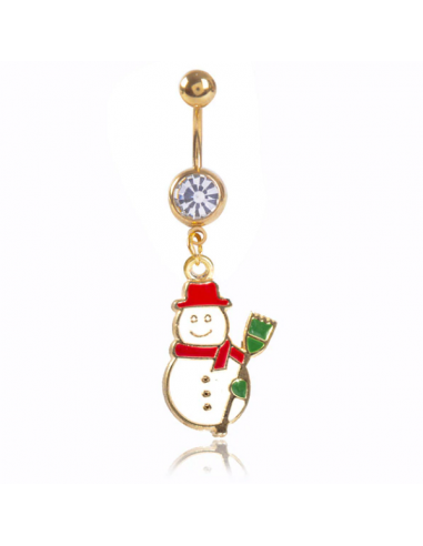 Belly Navel Ring Gold Plated with...