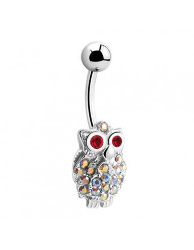 Belly Button Navel Ring Owl
