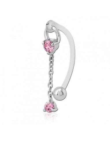 Intimate piercing bioflex double pink...