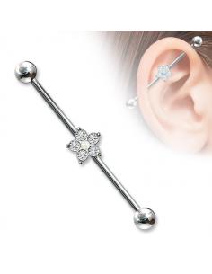 Pearl Industrial barbell Arrow Industrial Barbell,Industrial piercing earring Industrial jewelry piercing